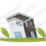 家、一軒家:災害、強風、台風