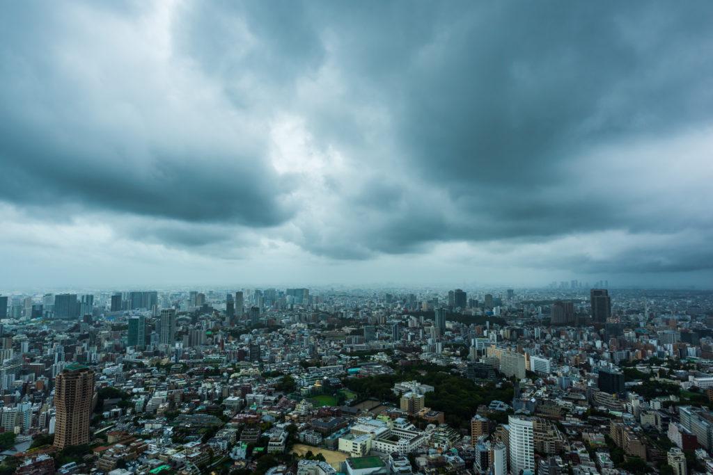台風接近中の東京 A Cloudy Day in Tokyo